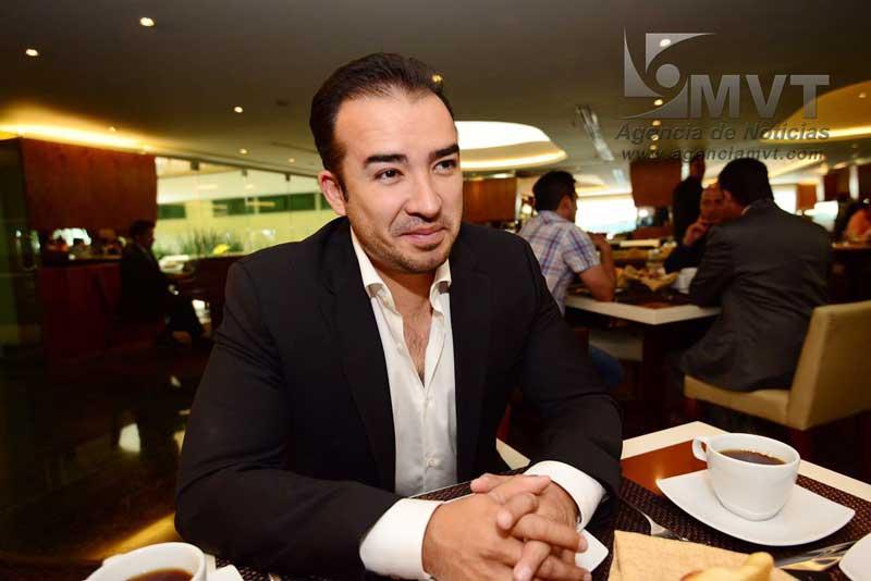 diputado del Partido Verde Ecologista, Tassio Benjamín Ramírez Hernández. Agencia MVT / Crisanta Espinosa.