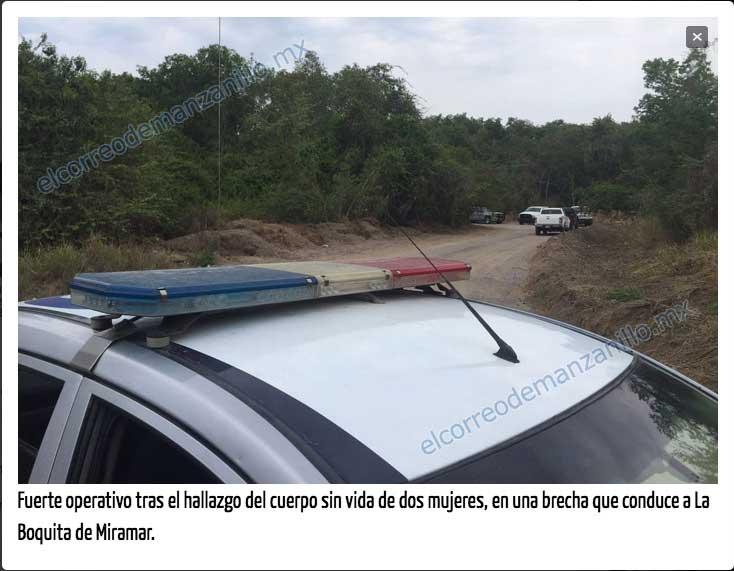 Imagen publicada por el Correo de Manzanillo http://elcorreodemanzanillo.mx/macabro-hallazgo-de-cadaveres-de-mujeres/