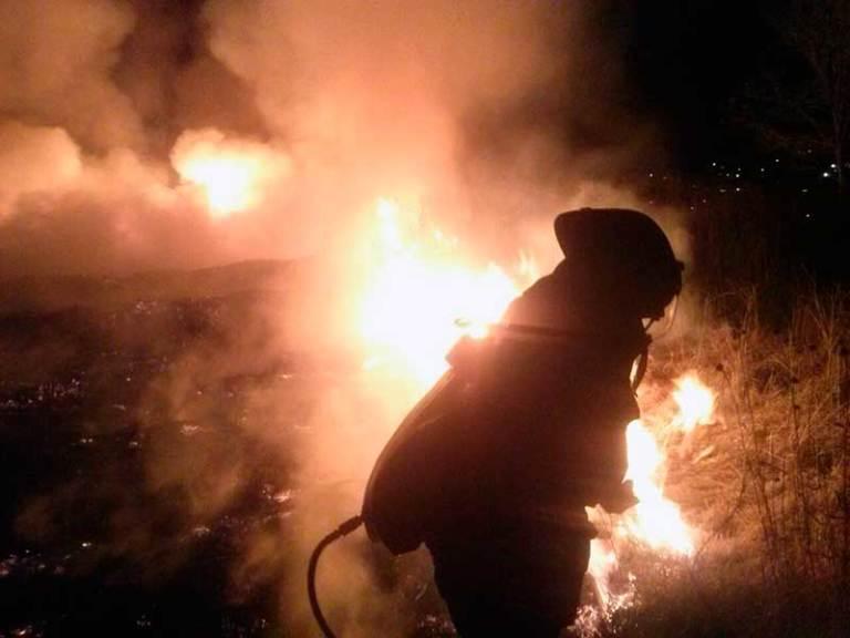 Bomberos de Toluca luchan contra incendios en pastizales. Noticias en tiempo real